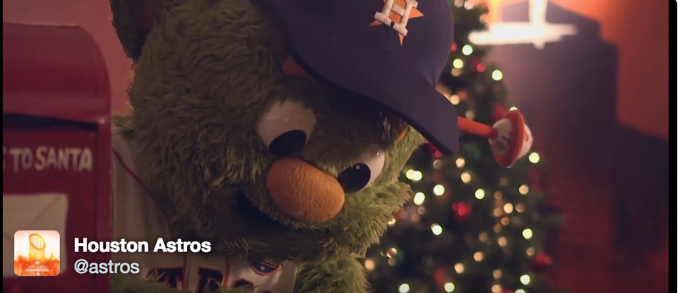 watch orbit write a letter to santa in adorable new astros video